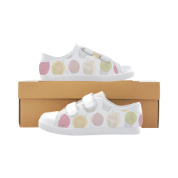 Colorful Cupcakes Velcro Canvas Kid's Shoes (Model 008)