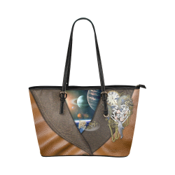 our dimension of Time Leather Tote Bag/Small (Model 1651)