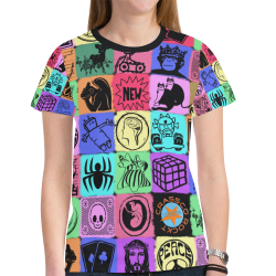 GRAPHIC ART PICTURES COLORFUL New All Over Print T-shirt for Women (Model T45)
