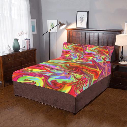 Neon Graffiti 3-Piece Bedding Set