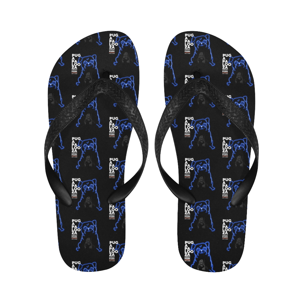 Pugapalooza 2020 Flip Flops Flip Flops for Men/Women (Model 040)