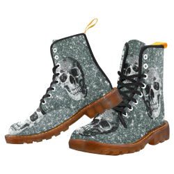 Modern sparkling Skull E by JamColors Martin Boots For Women Model 1203H