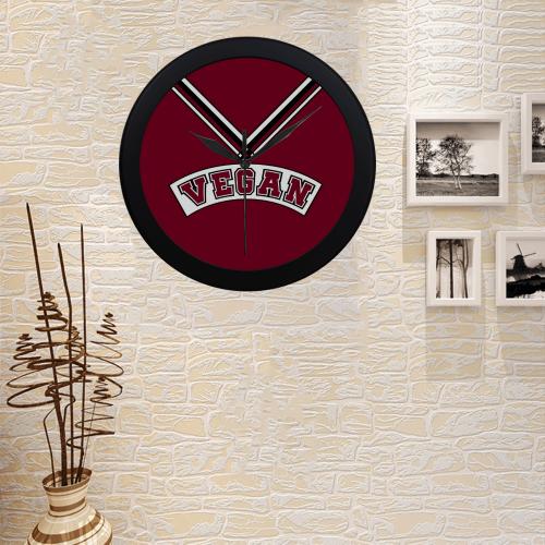 Vegan Cheerleader Circular Plastic Wall clock