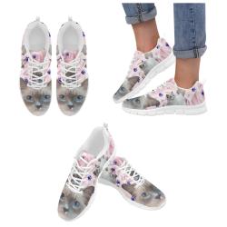 Ragdoll Cat Women's Breathable Running Shoes (Model 055)