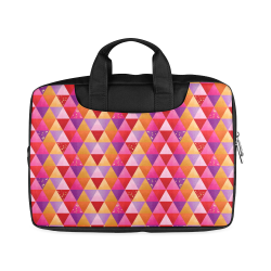 "Triangle Pattern - Red Purple Pink Orange Yellow Macbook Air 11""(Twin sides)"