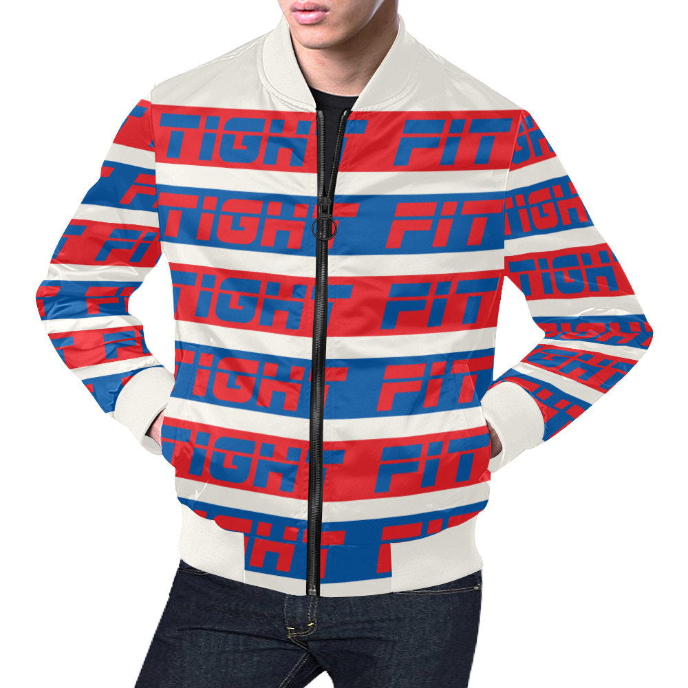 TIGHT FIT Colour Bars R-B 2090 All Over Print Bomber Jacket for Men (Model H19)