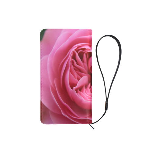 Rose Fleur Macro Men's Clutch Purse (Model 1638)