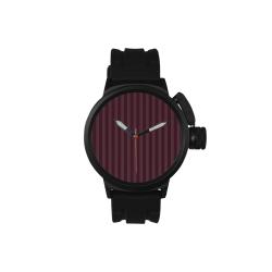 Maroon Stripes Men's Sports Watch(Model 309)