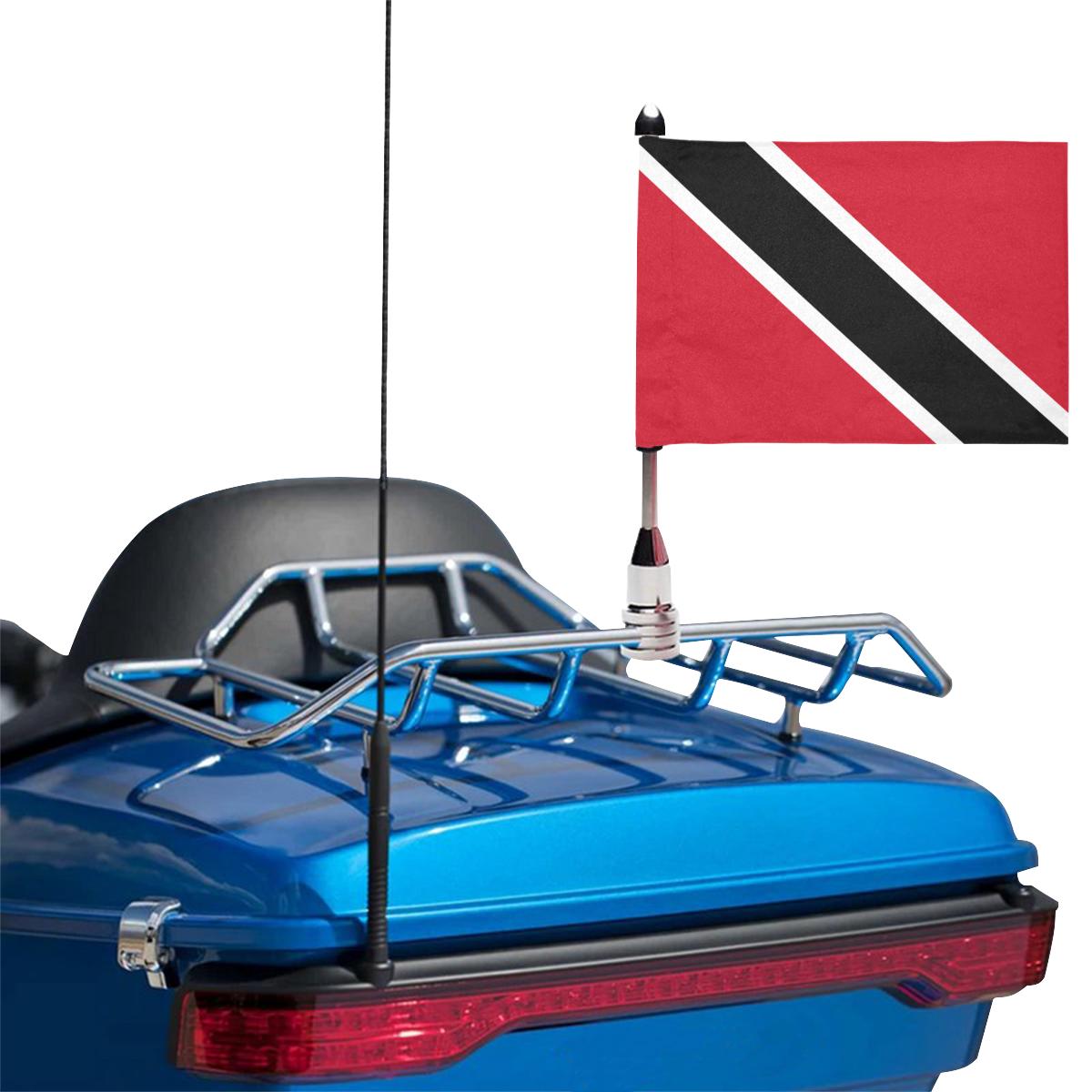 Trinidad and Tobago Motorcycle Flag (Twin Sides)