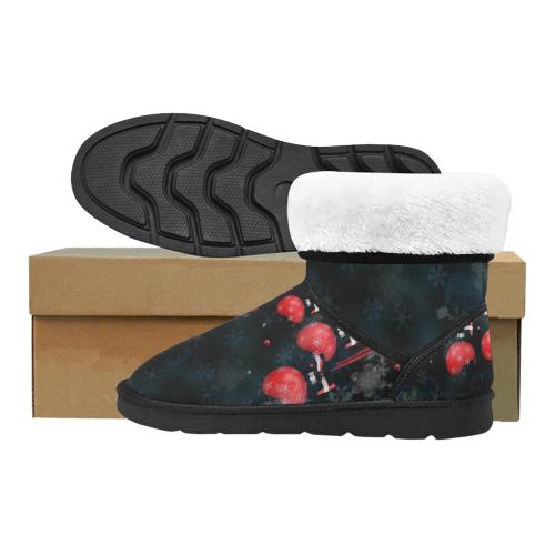 Christmas Pop by Nico Bielow Custom High Top Unisex Snow Boots (Model 047)