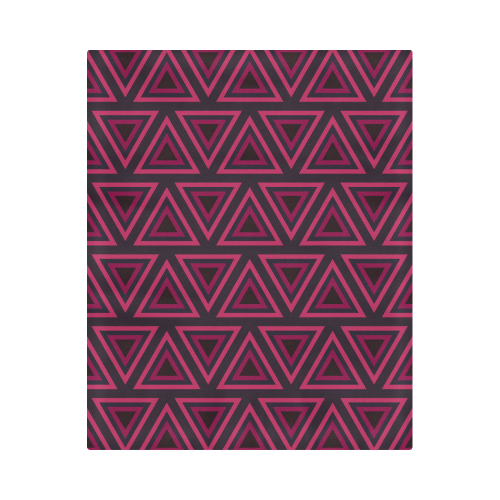 """Tribal Ethnic Triangles Duvet Cover 86""""x70"""" ( All-over-print)"""