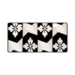 Black White Tiles License Plate