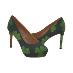 zapato alto de mujer trebol de la suerte Women's High Heels (Model 044)