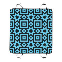 Blue/Black Geometric Pattern Pet Car Seat 55''x58''