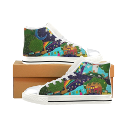 Once upon a time... High Top Canvas Shoes for Kid (Model 017)