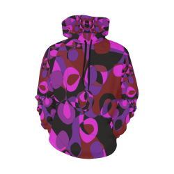 Abstract #18 All Over Print Hoodie for Women (USA Size) (Model H13)