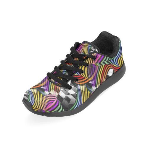 3D Rainbow Pop by Nico Bielow Men's Running Shoes (Model 020)