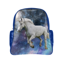 Unicorn and Space Multi-Pockets Backpack (Model 1636)