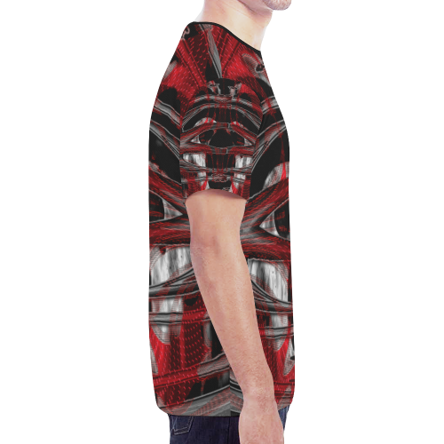 Dark Red Crew Unit New All Over Print T-shirt for Men/Large Size (Model T45)