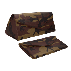 Camo Dark Brown Custom Foldable Glasses Case