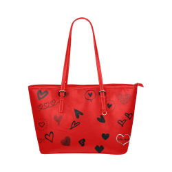 FF 'Walking Memorial' Red Leather Tote Bag/Large (Model 1651)