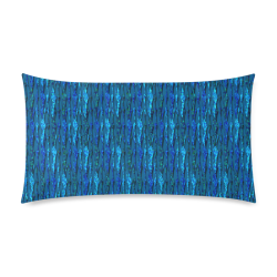 "Abstract Scales of Blue Strands Rectangle Pillow Case 20""x36""(Twin Sides)"