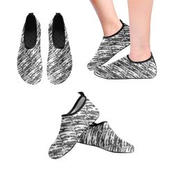 Alien Troops - Black & White Men's Slip-On Water Shoes (Model 056)