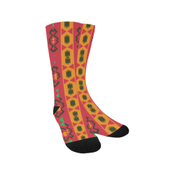 Tribal shapes in retro colors (2) Trouser Socks