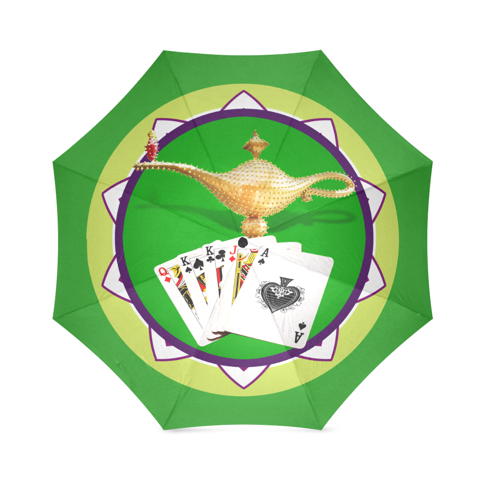 LasVegasIcons Poker Chip - Magic Lamp Foldable Umbrella (Model U01)