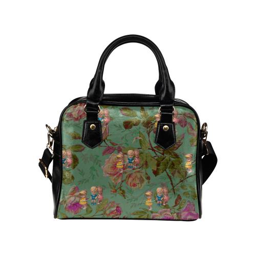 Hooping in The Rose Garden Shoulder Handbag (Model 1634)