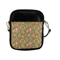 Christmas Gingerbread Icons Pattern Sling Bag (Model 1627)