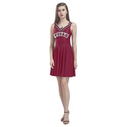 Vegan Cheerleader Thea Sleeveless Skater Dress(Model D19)