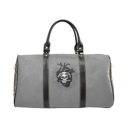 Cuore nero, by Ivan Venerucci Italian Style New Waterproof Travel Bag/Small (Model 1639)