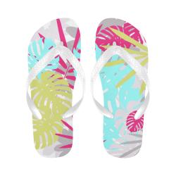 Tropical Colorful Palms Flip Flops for Men/Women (Model 040)