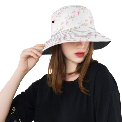 Pattern Orchidées All Over Print Bucket Hat