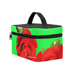 Fairlings Delight's Floral Luxury Collection- Red Rose Cosmetic Bag/Large 53086a16 Cosmetic Bag/Large (Model 1658)