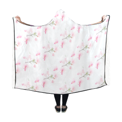 Pattern Orchidées Hooded Blanket 60''x50''