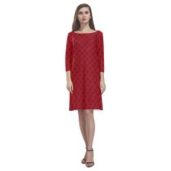 Cool Canada Souvenir Dresses Rhea Loose Round Neck Dress(Model D22)