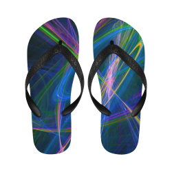 Fractal Art z05 Flip Flops for Men/Women (Model 040)