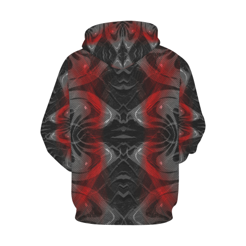 xxsml Red Voice Crew All Over Print Hoodie for Men (USA Size) (Model H13)
