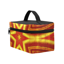red and gold kaleidoscope Cosmetic Bag/Large (Model 1658)