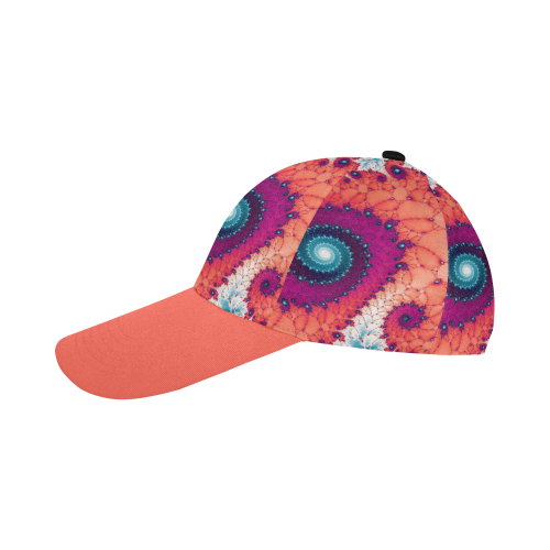 Soft Petals Glass Flower Spiral All Over Print Baseball Cap B
