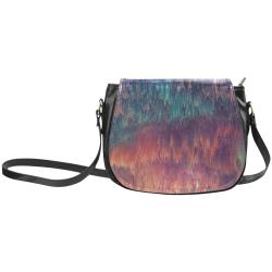 glitch art #colors Classic Saddle Bag/Large (Model 1648)