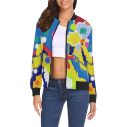 CONFETTI NIGHTS 4 All Over Print Bomber Jacket for Women (Model H19)