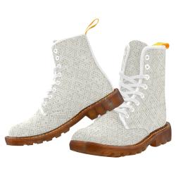 White 3D Geometric Pattern Martin Boots For Men Model 1203H
