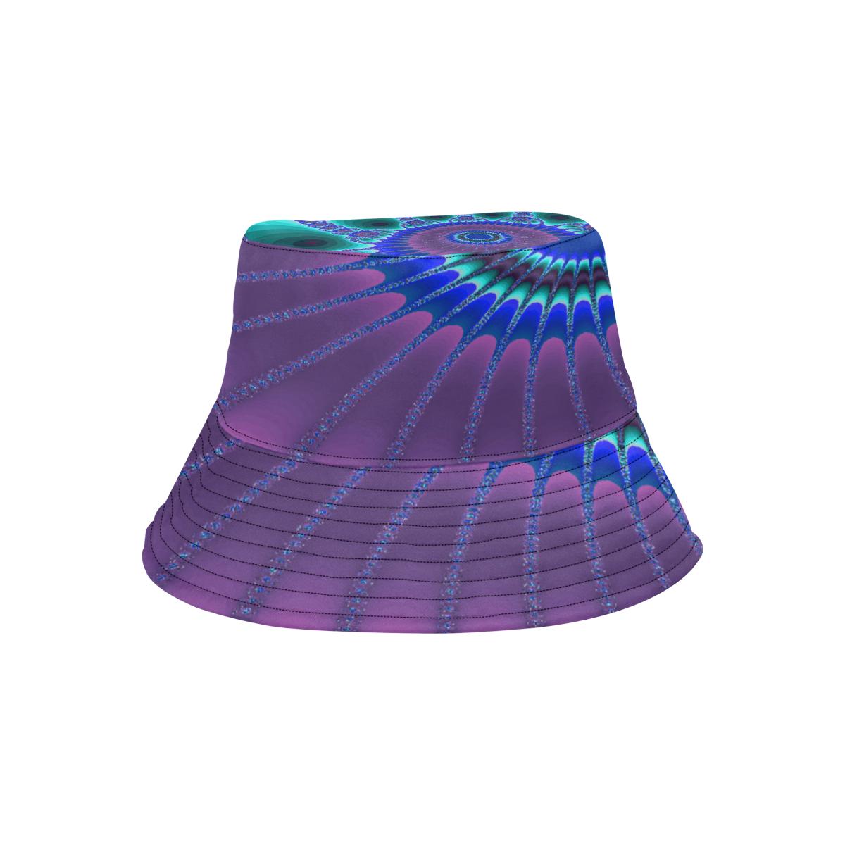 Indigo Sunflower All Over Print Bucket Hat
