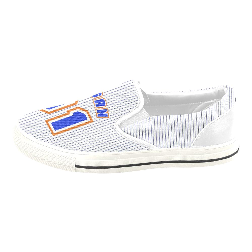No. 1 Vegan Women's Unusual Slip-on Canvas Shoes (Model 019)