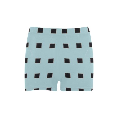 Blue Fade Mod Black Checks Briseis Skinny Shorts (Model L04)