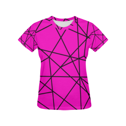 Abstract All Over Print T-Shirt for Women (USA Size) (Model T40)