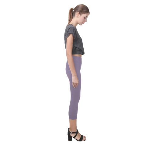 Grape Compote Capri Legging (Model L02)